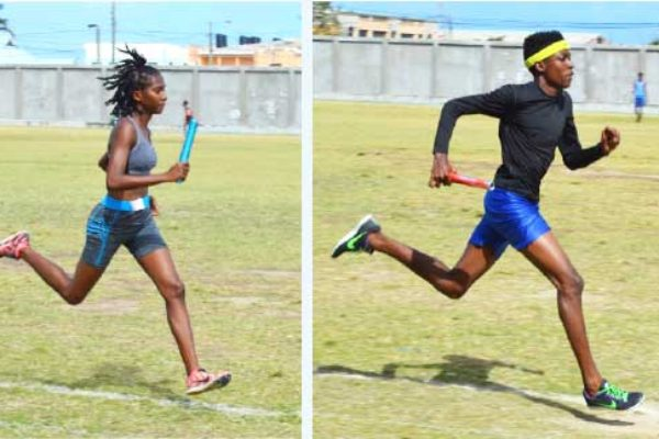 Image: (L-R) In action: Zadie St. Louis, Tarrik Xavier and Quami Fontinelle. (PHOTO: Anthony De Beauville)
