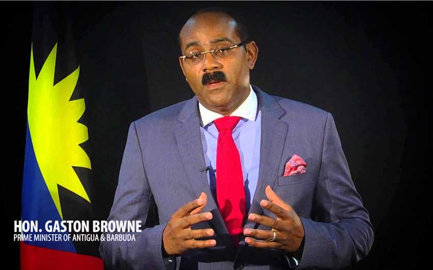 Image: Antigua's PM Gaston Browne is the only CARICOM PM known to have a quarrel with Sandals and Butch Stewart.