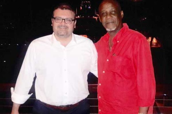 Image of Mayor of Naxos, Mr. Ioannis Margaritis, & Mayor of Castries, Peterson D. Francis