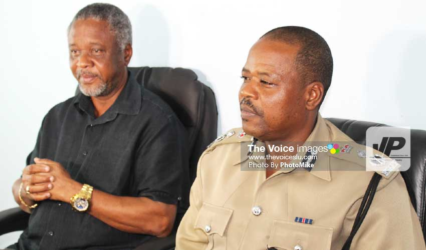 Image: Minister Francis (left) and Commissioner Moncherry.[PHOTO: PhotoMike]