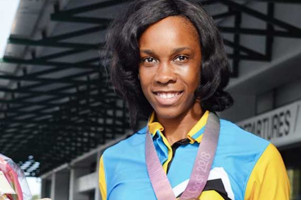 Commonwealth Games High Jump Champion Levern Spencer (Photo: Anthony De Beauville)