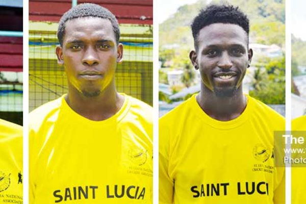 Image: (L-R) Kevin Augustin, CollinusCalender, Larry Edward and Dornan Edward. (PHOTO: Anthony De Beauville)