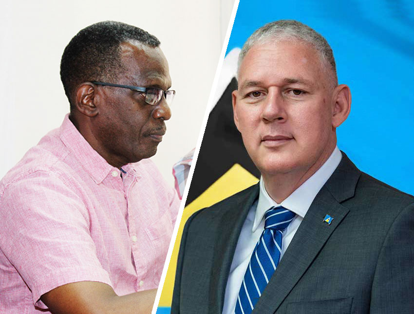 Image of LEADER of the Opposition Philip J Pierre and Prime Minister Allen Chastanet