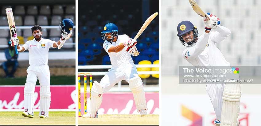 Image: (L-R) Kusal Mendis, Dinesh Chandimal and Dhananjaya de Silva. (PHOTO: AFP/CWI Media/Randy Brooks/AP)
