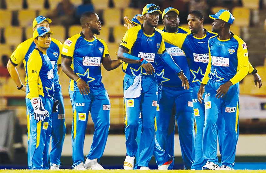 Image of The St. Lucia Stars in 2017. (PHOTO: CPL)