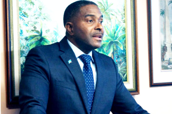 Image of Minister in the Ministry of Finance, Doctor Ubaldus Raymond