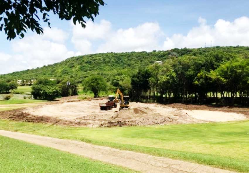 Image: Works have started to transform the former Cap Estate Golf Club into another Sandals-branded property in Saint Lucia.