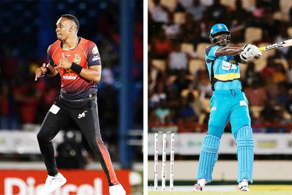 Image: (L-R) Best of friends, Dwayne Bravo and Daren Sammy to set the DSCG ablaze (Photo: CPL T20 Getty Images/Sportsfile)