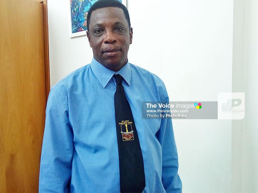 Image of Saint Lucia Teachers Union (SLTU) President, Julian Monrose [PHOTO: PhotoMike]