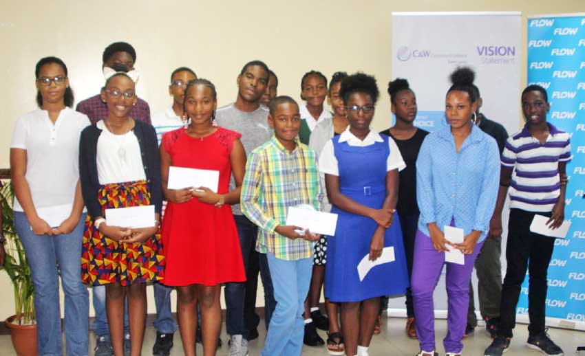 Image of some of Flow's Scholarship winners.