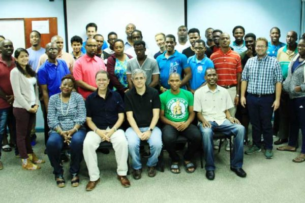 Image of the delegations in Barbados.
