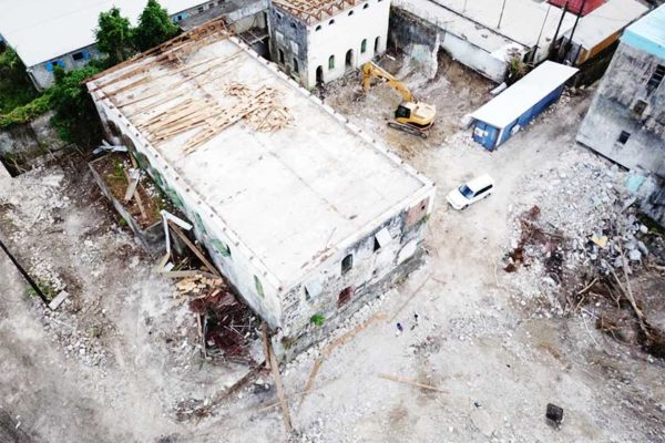 Image: Aerial view of the site in contention.