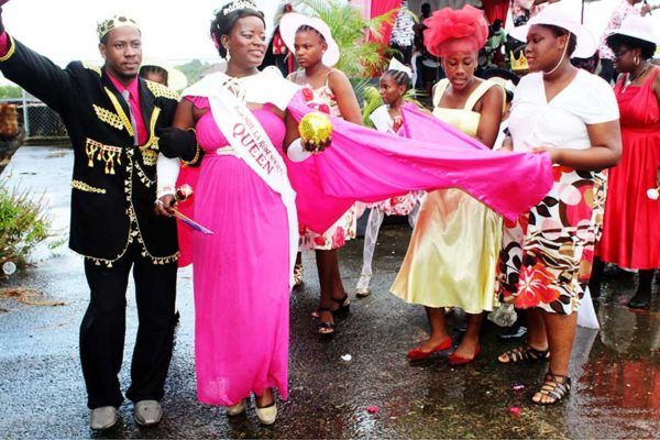 Image: Never mind the rainy and windy weather, this La Rose Queen -- and her King -- were heralded at Mon Repos on Thursday as the community hosted the annual event that's similarly repeated in almost every other part of the country where the feast of St Rose de Lima is celebrated annually.