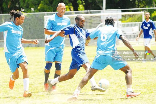 Image of some of the action on the opening day at the Sab. (PHOTO: DP)