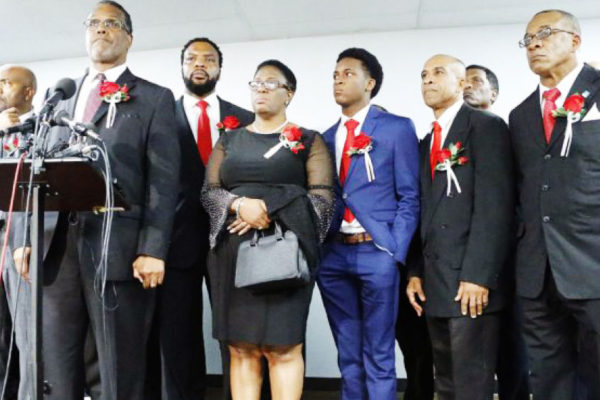 Image of the family of 26-year-old Botham Jean