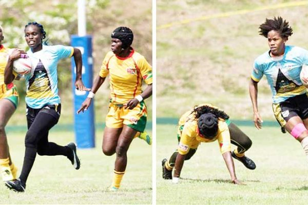 Image: Saint Lucia women in action against Guyana. (PHOTO: Michael Evans)