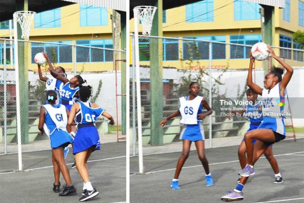 Image: Some of the action on court between SJC Egrets and Entrepot Secondary. (PHOTO: Anthony De Beauville)