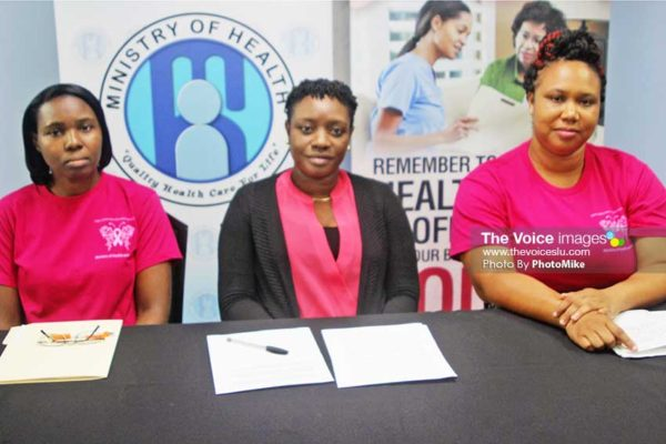 Image: (Left to right – Sharon Tench-Norbal, Michelle Francois and Janelle Alexander Dupre (Photo by PhotoMike)