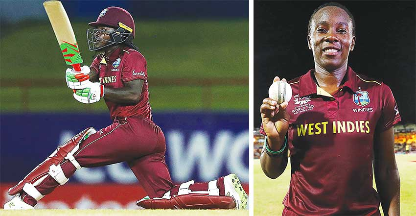 Image: Deandra Dottin slog-sweeps during her 46, West Indies versus England, Women's World T20, Group A, Shakera Selman picked up 2 for 15. (PHOTO: ICC/ Getty Images)