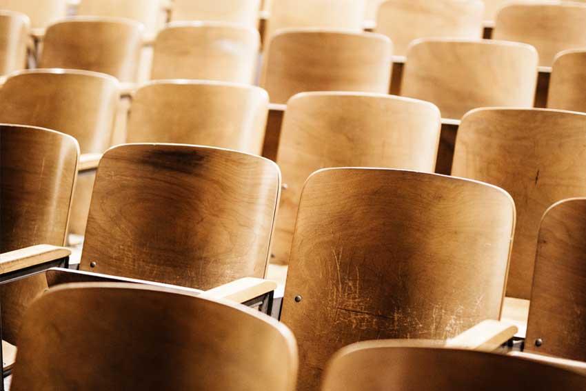 Image of empty seats