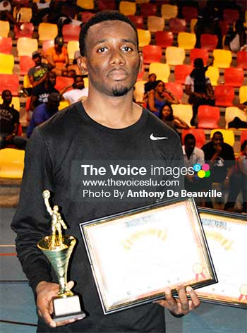Image of Rahim Auguste( Financial Services) with his awards (Photo: Anthony De Beauville)