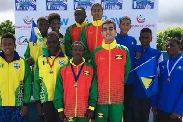Image: Team Saint Lucia in the mix (Photo: OECS/SLU)