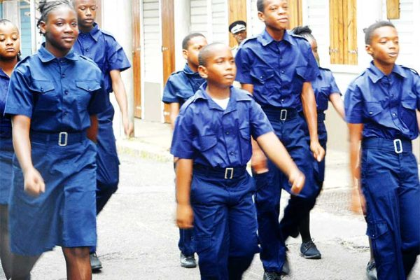 Image of a group of Vieux Fort children on parade on Universal Children's day. PHOTO: (Kingsley Emmanuel)