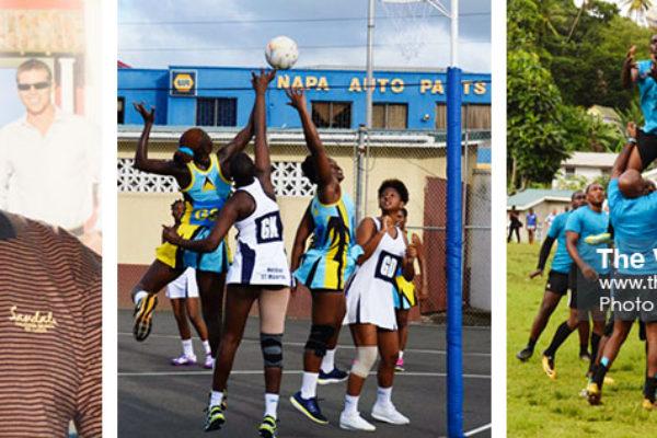 Image: (L-R) Sports Consultant, Joseph 'Reds' Perreira, Saint Lucia versus Saint Martin (Netball, Saint Lucia versus Martinique (Rugby). (PHOTO: Anthony De Beauville)