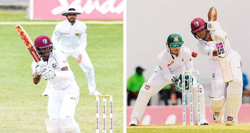 Image: (L-R) Kraigg Brathwaite; Shai Hope is he the only hope for West West Indies at the top of the order. (Photo: AFP)