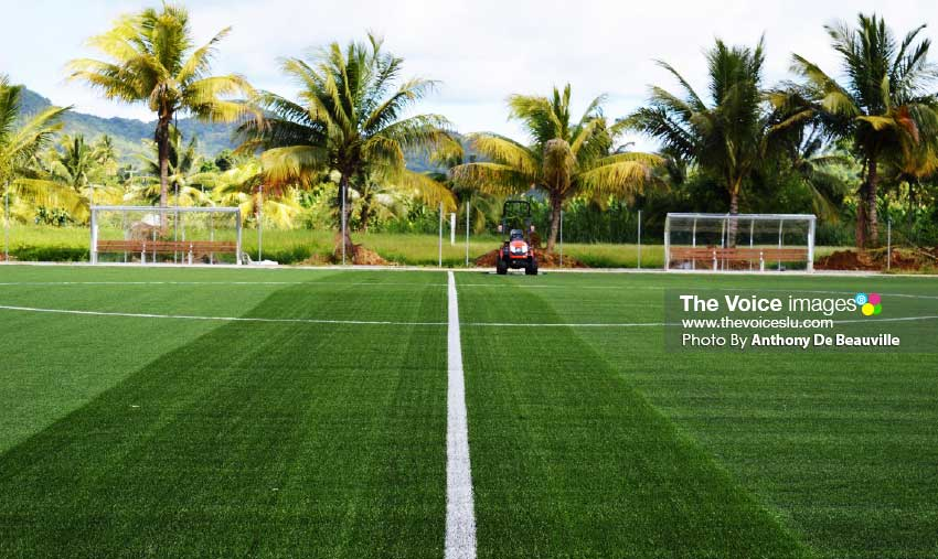 Image: New SLFA FIFA: approved Technical Centre located in Grande Riviere, Dennery. (PHOTO: Anthony De Beauville)