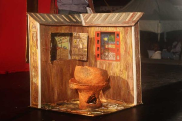 Image: 'Outside Cooking Saint Lucia Style'-- winner of the Most Outstanding Lantern Award in the seniors category.