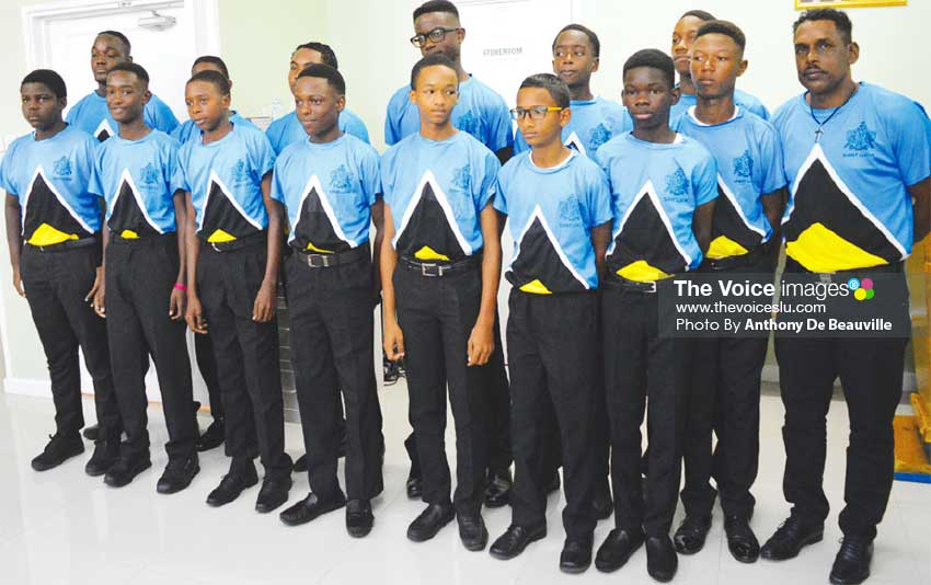 Image: Team Saint Lucia will play Dominica today. (PHOTO: Anthony De Beauville)