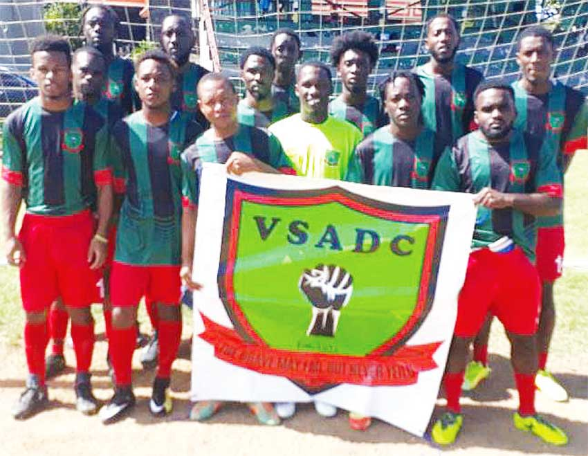 "Image: VSADC senior team crowned inaugural Hephburn ""RasJaho"" Jn Marie Inter Club Football Cup champions. (PHOTO: VSADC)"