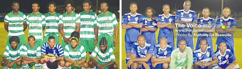 Image: (L-R) Vieux Fort South, and defending champions Soufriere in action this weekend.(PHOTO: Anthony De Beauville)