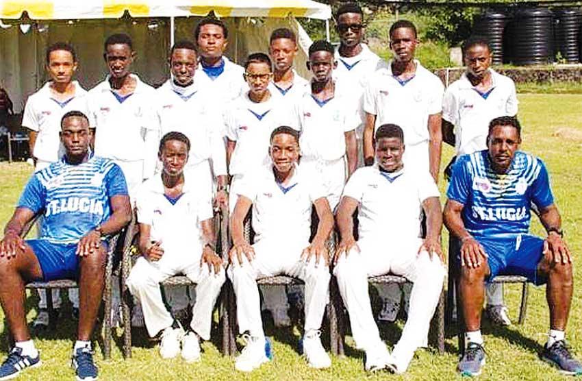 A photo moment Windward Island U15 Cricket champions, Saint Lucia.