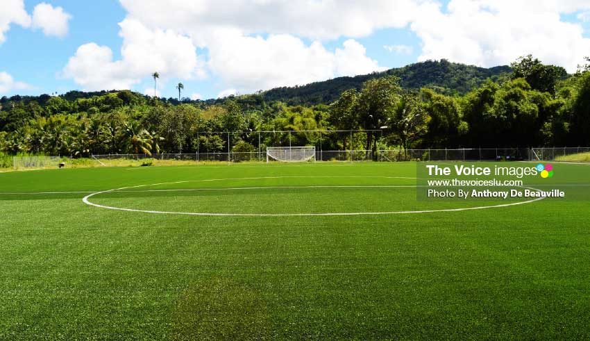 """Image: SLFA President Lyndon Cooper says, """"As a result in playing facilities the game will improve in Saint Lucia."""" (PHOTO: Anthony De Beauville)"""