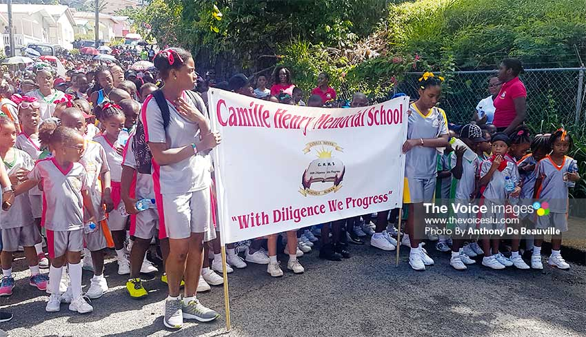 Image: Camille Henry Memorial School came out in full force. (PHOTO: Anthony De Beauville)