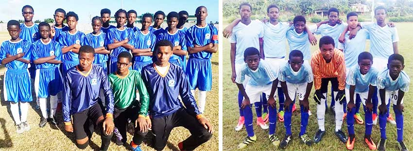 Image: (L-R) Central Castries all set to play defending champions Gros Islet. (PHOTO: CD)