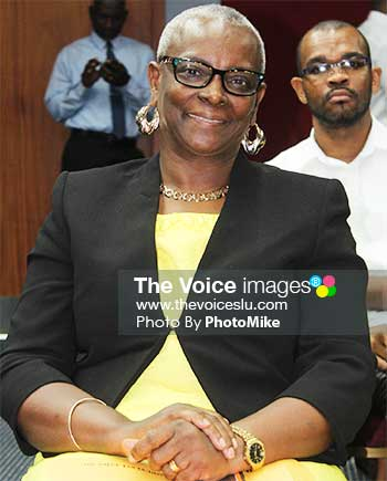 Image of Culture Minister Fortuna Belrose. (PHOTO: PhotoMike)