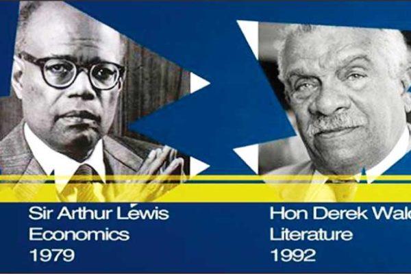 Image of Nobel Laureates Derek Walcott and Sir Arthur Lewis