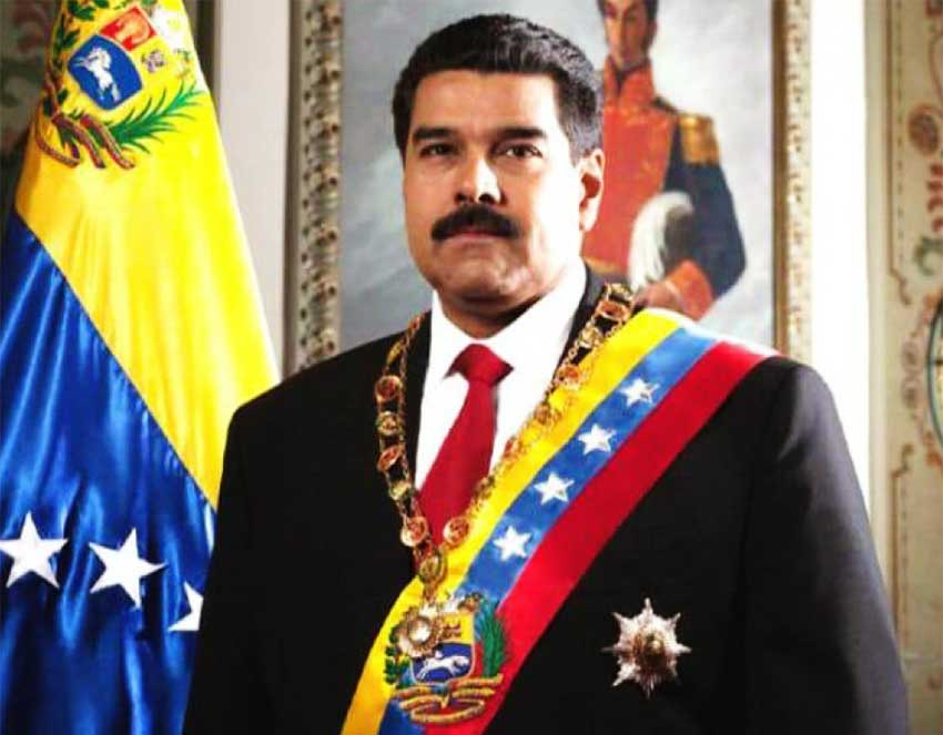 Image of President Maduro after being sworn-in for a second term on Thursday.