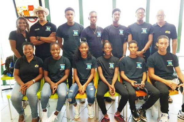 Image of Saint Lucia CARIFTA team for 2018
