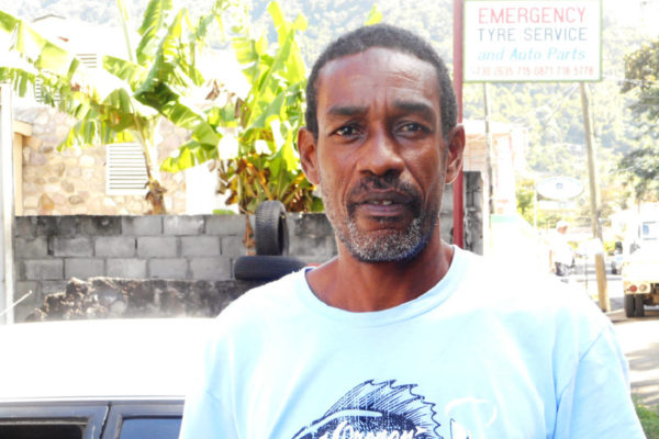 Image of Soufriere Taxi Association President Simon Abraham
