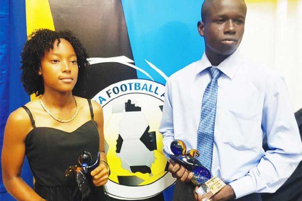 Image of Junior female footballer of the year, Krysan St. Louis