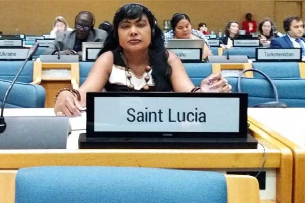 Image of Kate Wilson, Legal Officer, Department of Sustainable Development, represented Saint Lucia at the Kenya meeting