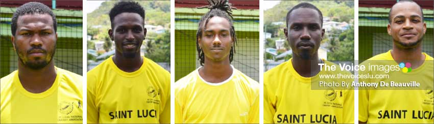Image: (L-R) Season campaigners Johnson Charles, Larry Edward, Tarryck Gabriel, Jamal James and Audy Alexander. (PHOTO: Anthony De Beauville)