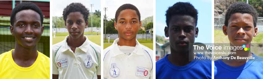 Image: (L-R) Under-19 players, Kimani Melius, AckeemAuguste, Keegan Arnold, Garvin Serieux Jr, and Simeon Gerson. (PHOTO: Anthony De Beauville)