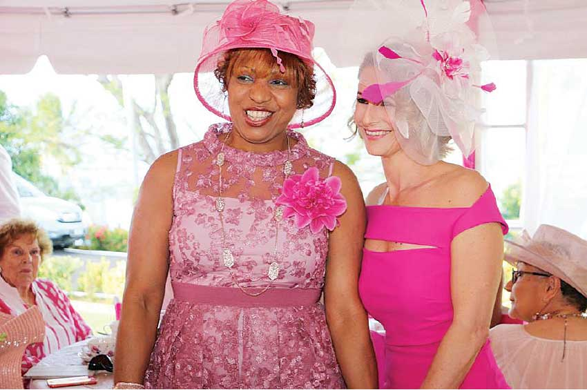 Image of First ladies past and present – Rosella King and Raquel Du Boulay-Chastanet.
