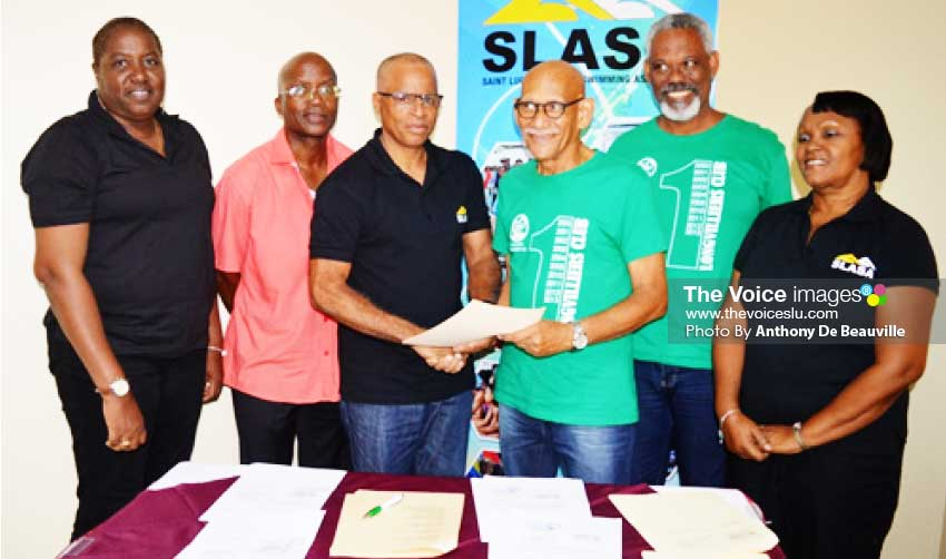 Image: Swimming deal signed between Saint Lucia and Martinique (Photo: Anthony De Beauville)