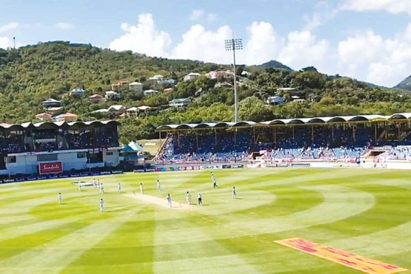 Image: The West Indies versus England test match brought scores of visitors to Saint Lucia's shores.